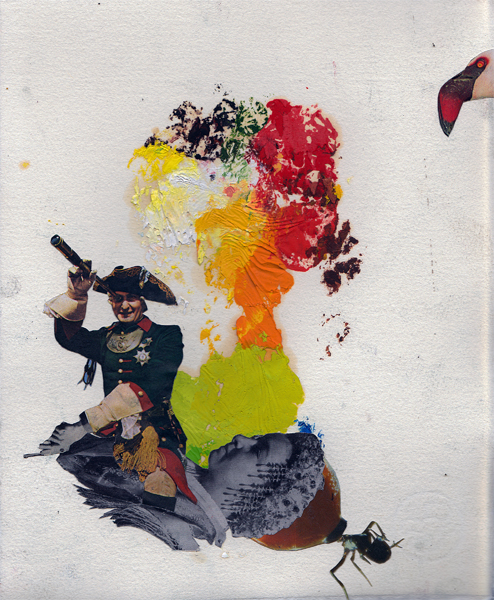 Steffen Lenk   O.T.   Oil colour and collage on paper   Paperworks
