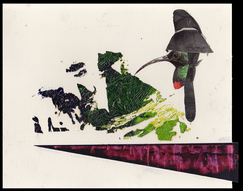 Steffen Lenk   O.T.   Oil colour, Oil stick and collage on paper   Paperworks