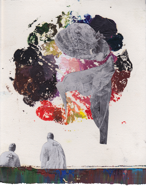 Steffen Lenk | O.T. | Oil colour and collage on paper | Paperworks