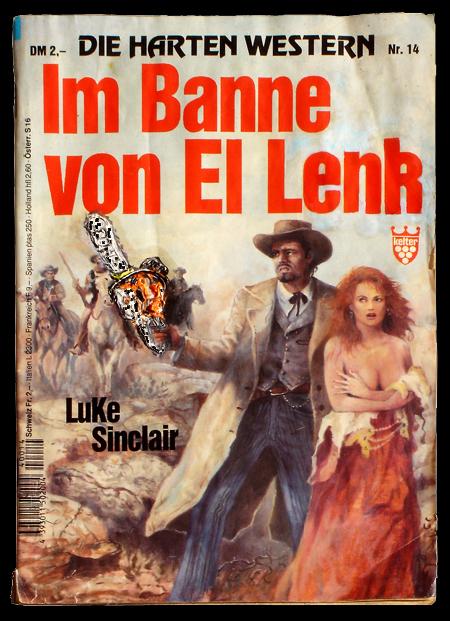Steffen Lenk   O.T.   Oil colour on pulp magazine   Paperworks