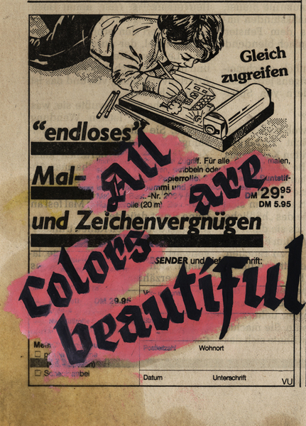 Steffen Lenk   O.T.   Oil colour on paper   Paperworks