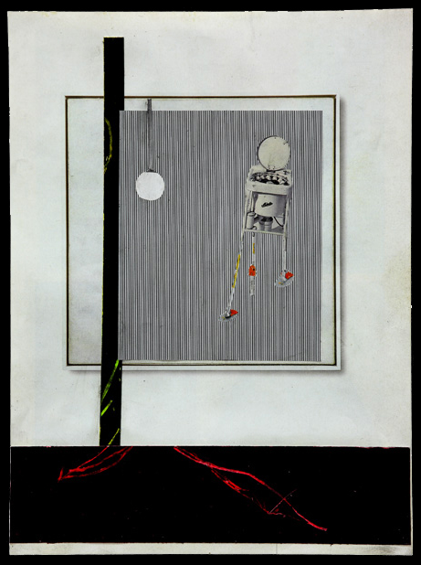 Steffen Lenk | O.T. | Oil stick collage on paper | Paperworks